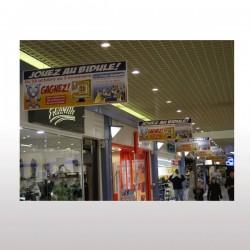 Affiche suspendue PVC 30/100ème M1 120 x 160 cm