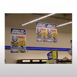 Affiche suspendue PVC 30/100ème M1 100 x 200 cm