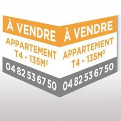 Panneau double 120 x 80 immobilier en V