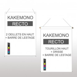Kakémono recto 60x120cm