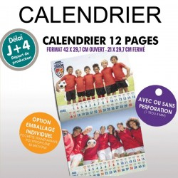 Calendrier 12 pages 2019