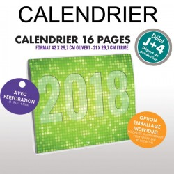 Calendrier 16 pages 2019