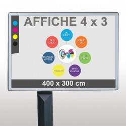 Affiches 4x3 (12m2)