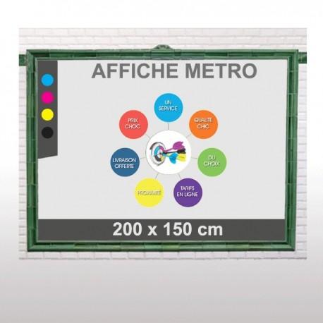 affiche metro 200x150