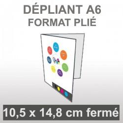 Dépliant A6 (4 faces)