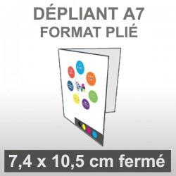 Dépliant A7 (4 faces)