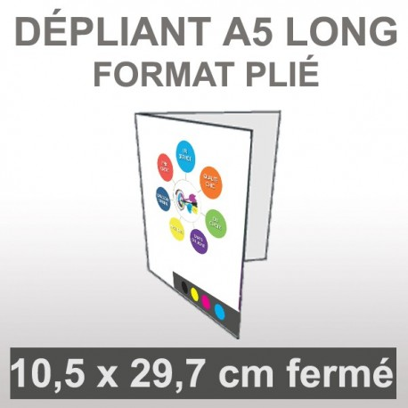 Dépliant A5 long 4 faces