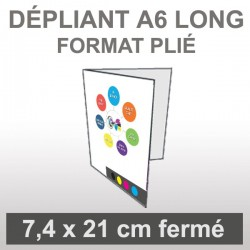 Dépliant A6 long (4 faces)