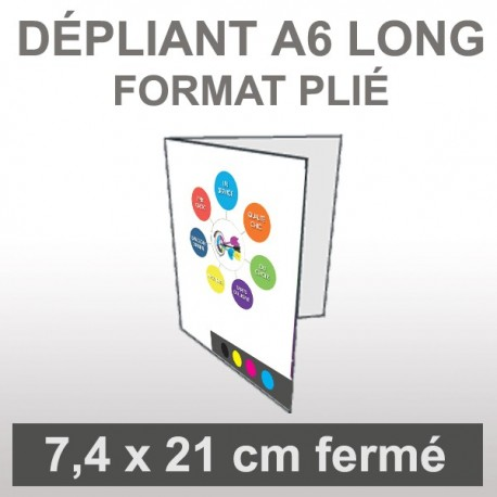 Dépliant A6 long 4 faces