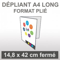 Dépliant A4 long 4 faces