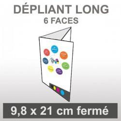 Dépliant LONG (6 faces roulé)
