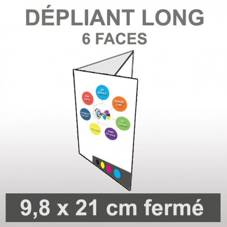 Dépliant long 6 faces