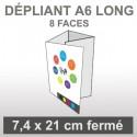 Dépliant A6 Long (8 faces roulé)