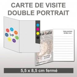 carte de visite double
