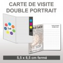 Carte Double Portrait