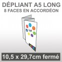 Dépliant A5 long 8 faces accordéon