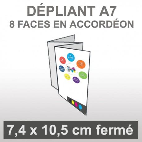 Dépliant A7 8 faces accordéon