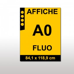 Affiches FLUO A0 ORANGE
