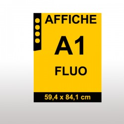 Affiches FLUO A1 ORANGE