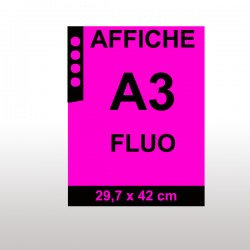 Affiches FLUO A3 MAGENTA