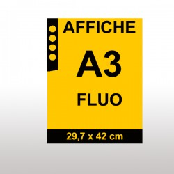 Affiches FLUO A3 ORANGE