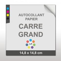 Autocollant papier Carré Grand (14,8 x 14,8 cm)