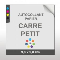 Autocollant papier Carré Petit(9,8 x 9,8 cm)