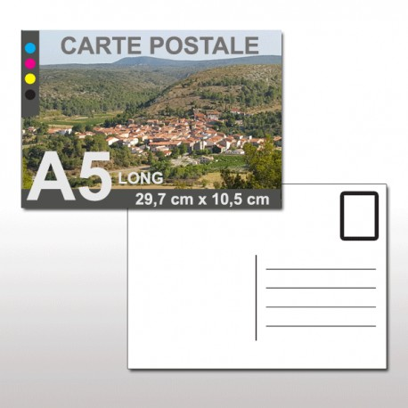 Cartes postales A5 LONG 29,7 cm x 10,5 cm