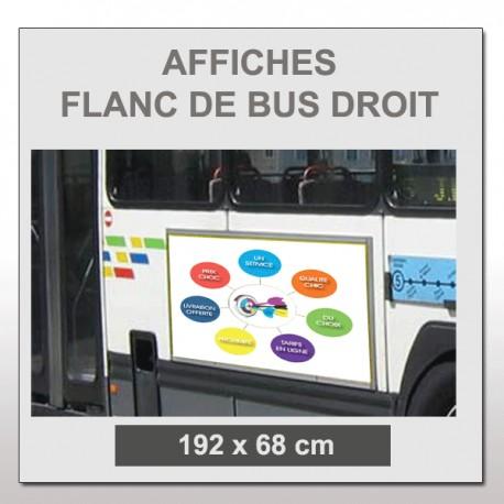 Flanc de bus droit 192x68 cm
