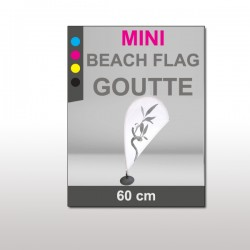 Mini Beach Flag 60 cm Goutte