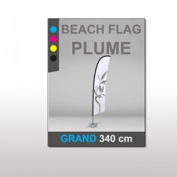 Beach flag Plume Grand 340 cm