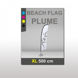 Beach flag Plume XL 500 cm