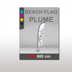 Beach flag Plume XXL 600 cm