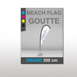 Beach flag Goutte Grand 300 cm
