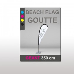 Beach flag Goutte Géant 350 cm