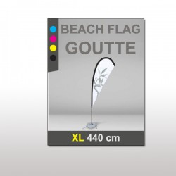 Beach flag goutte XL 440 cm