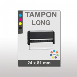 Tampon plastique long 24x81mm