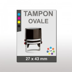 Tampon plastique ovale 27x43mm