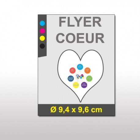 Flyer en forme de coeur (long)