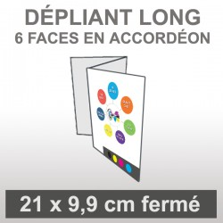 Dépliant LONG 6 faces accordéon