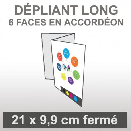 Dépliant LONG 6 faces accordéon