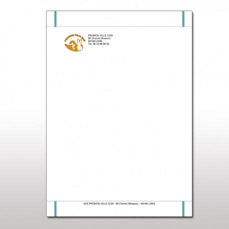 Papier à lettre à entête A5