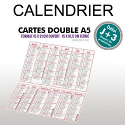 Calendrier 2019 A5 double