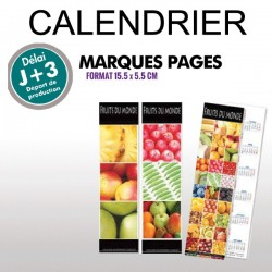Calendrier marque pages 2019
