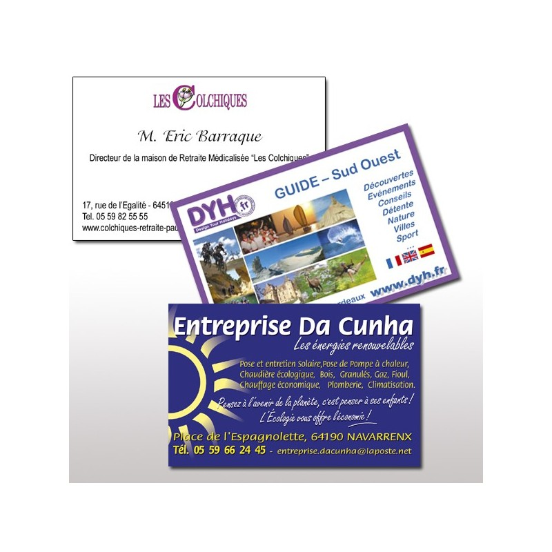 Cartes De Visite Recto