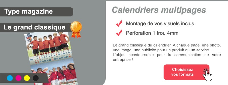 Calendriers multipages 2019