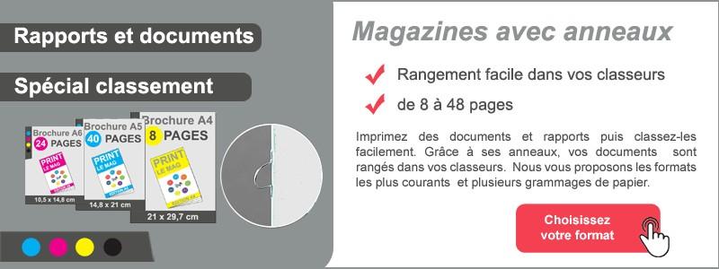 Magazines avec anneaux de classement