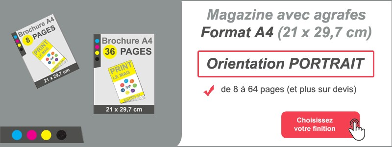 Magazine brochure agrafes A4
