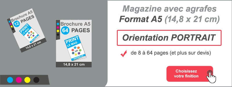 Magazine brochure agrafes A5