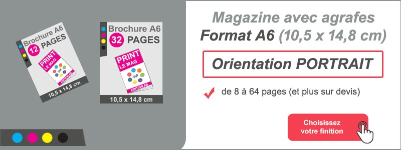 Magazine brochure agrafes A6